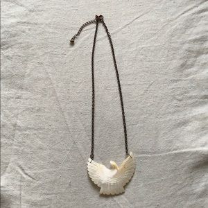 Free people bird necklace